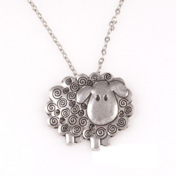 Sheep Tin Pendant
