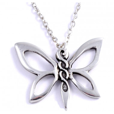 Butterfly Tin Pendant