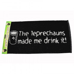 Leprechauns Made Me Drink It Bar Towel