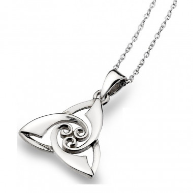 Trinity Knot Silver Pendant