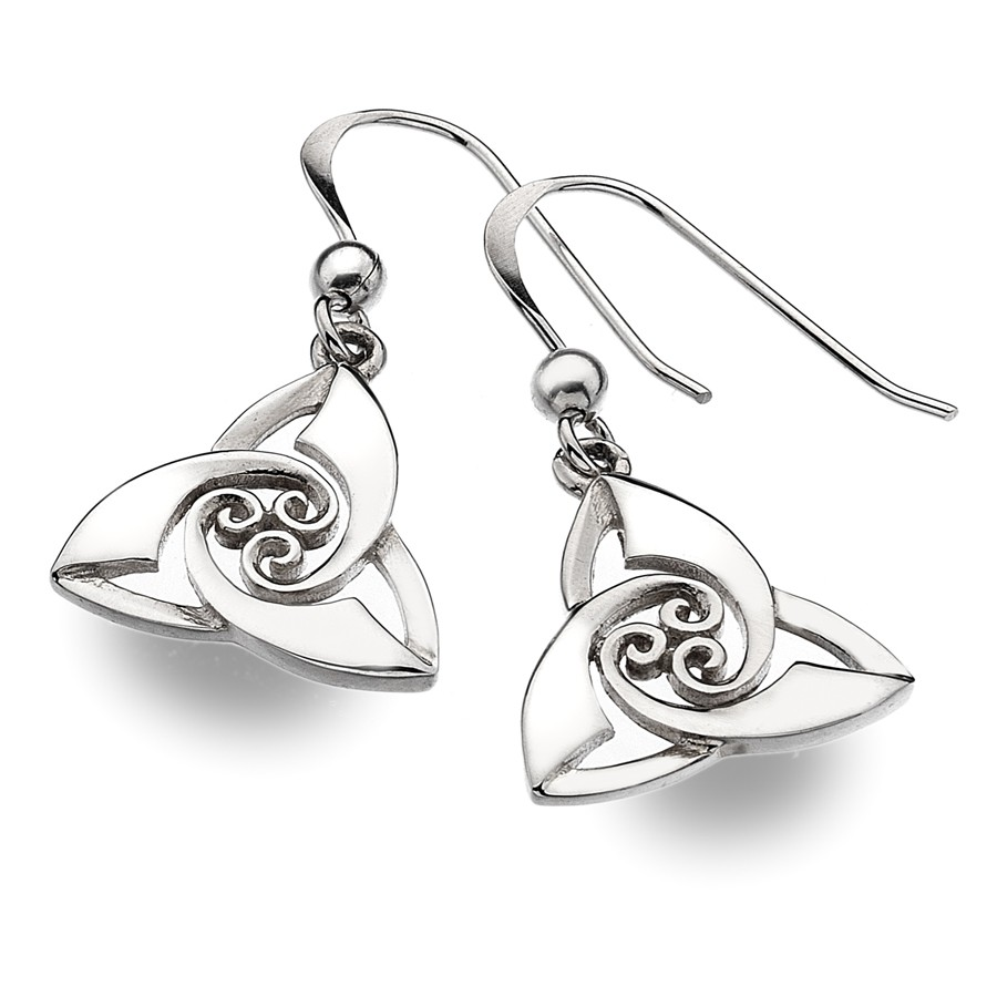 boucles d 39 oreilles argent trinity knot. Black Bedroom Furniture Sets. Home Design Ideas