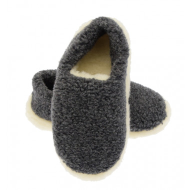 Alwero Grey Siberian Slippers