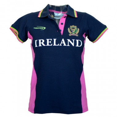 Ireland Navy and Pink Polo Shirt