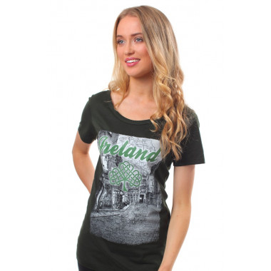 T-shirt Ireland Street Kaki