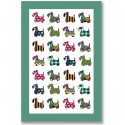 Scottie Flax Tea Towel 48 x 74 cm