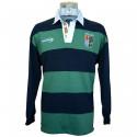 Lansdowne Ireland Navy & Green Stripes Polo Shirt