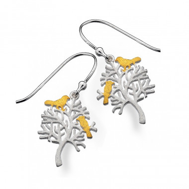 Earrings Tree of Life and Birds