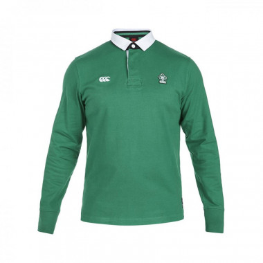 POLO MANCHES LONGUES HOMME VERT Irlande CCC