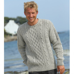 Out of Ireland Grey Cable Sweater