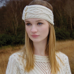 Inis Crafts Natural Aran Headband