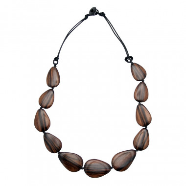 Out Of Ireland Wooden Drops Necklace