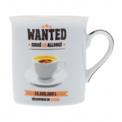 Mini Mug Porcelaine Wanted 150ml
