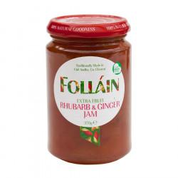 Rhubarb & Ginger Jam Folláin 370g