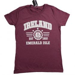 T-shirt Ireland Bordeaux Chiné