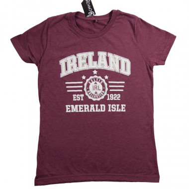 Ireland Heathered Bordeaux T-Shirt
