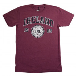 Ireland Heathered Bordeaux T-Shirt