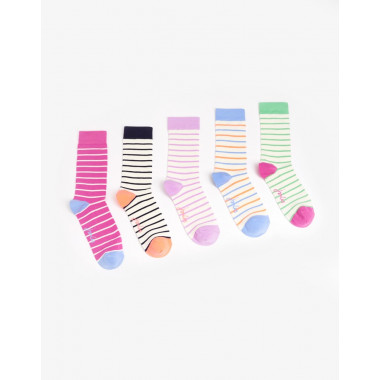 Chaussettes x5 Bambou Rayées Tom Joule