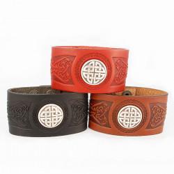 Bracelet Wide Cuff Cuir