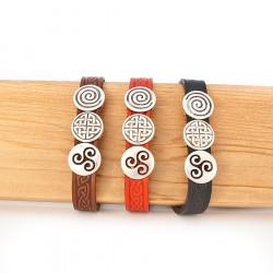Bracelet with 3 Charm Cuff