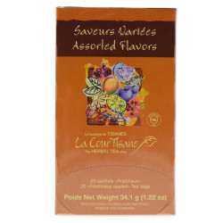 Assorted Flavoured Fruit and Herbal Infusions, 20 enveloped tea bags