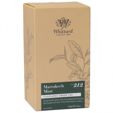 Whittard Marrakech Mint Green Tea 50 Tea Bags 125g