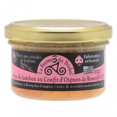 Terrine de Jambon au Confit d'Oignon de Roscoff La Ferme du Triskel 80g
