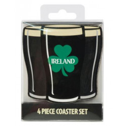 Set de 4 coasters Irish Stout