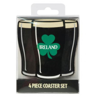 Four Irish Stout Coasters Set