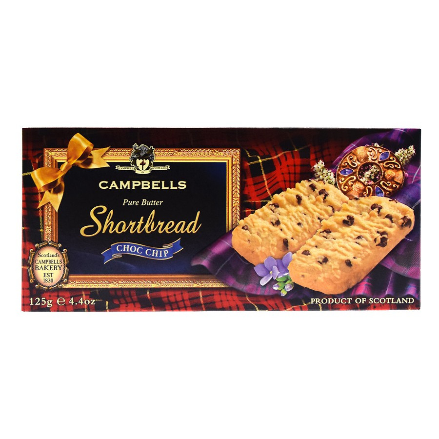 260c598dc Campbells Shortbreads Chocolate Chips 125g