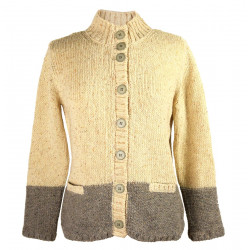 Cardigan Col Montant Beige Out of Ireland