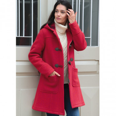 London Tradition Orange Zip Fiona Duffle-Coat