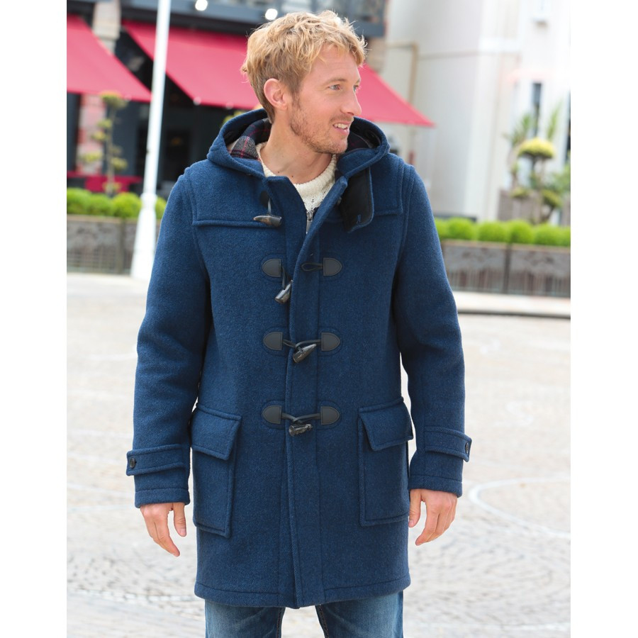 Duffle-Coat Barry Bleu London Tradition c1dd129b473c