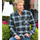Out of Ireland Black-Navy Tartan Button-Down Shirt
