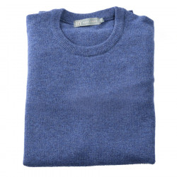 Best Yarn Blue Round-neck Lambswool Sweater