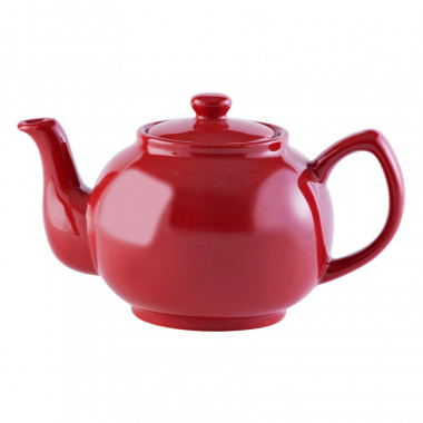 Red Teapot 6 Mugs 1.10L