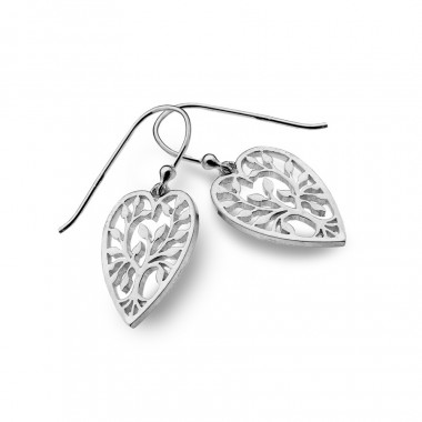 Boucles d'Oreilles Coeur Tree of Life