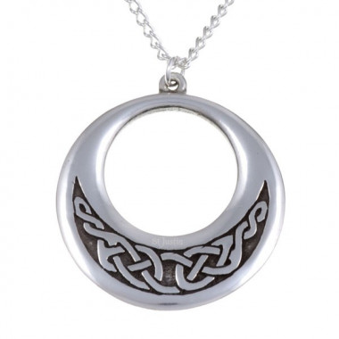 Celtic Knot Creole Tin Pendant