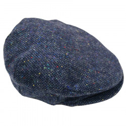 Hanna Hats Blue Vintage Flat Cap