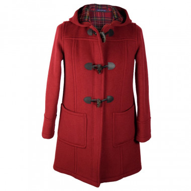London Tradition Red Zip Fiona Duffle-Coat
