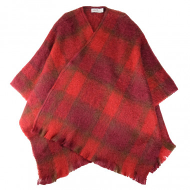 Cushendale Red Brushed Mohair Cape