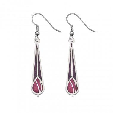Mauve/Red Drop Mack Earrings