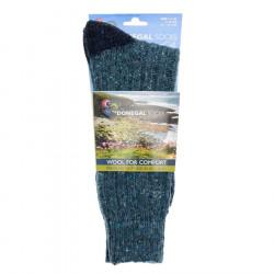 Chaussettes Courtes Contrastées Turquoises