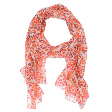Out Of Ireland Orange Floral Scarf