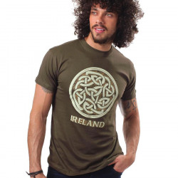 Ireland Celtic Knot Kaki T-Shirt