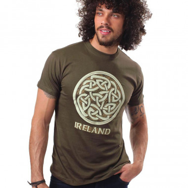 T-Shirt Nœud Celtique Ireland Kaki