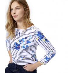 Marinière Rayée Bleu Motifs Floraux Tom Joule