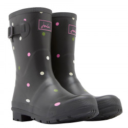 Tom Joule Polka-Dot Grey Mid-Height Wellies