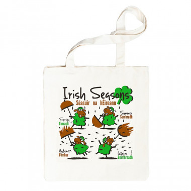 Sac Shopping Irish Seasons 100% coton