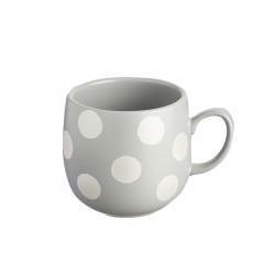 Silver Spotted Mug Sandstone 400ml