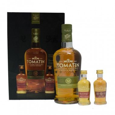 Tomatin 12 Years Old 70cl 43° & 2 Mignonettes 5cl